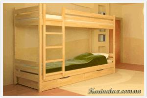 Фото - кровать детская двухъярусная Дуэт - karinalux.com.ua