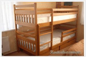 Колобок – кровать детская двухъярусная